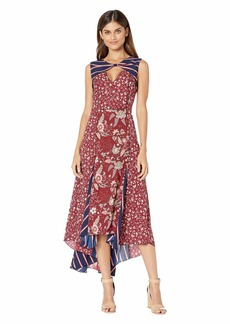 BCBG Max Azria Mixed Print Midi Dress