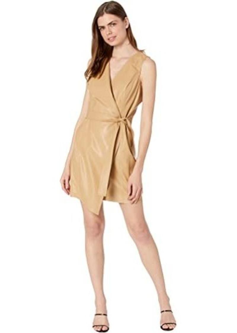 BCBG Max Azria Napa Pleather Wrap Dress
