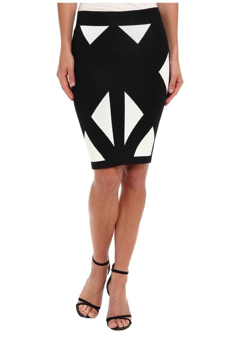 BCBG Max Azria Natalee Geometric Jacquard Skirt