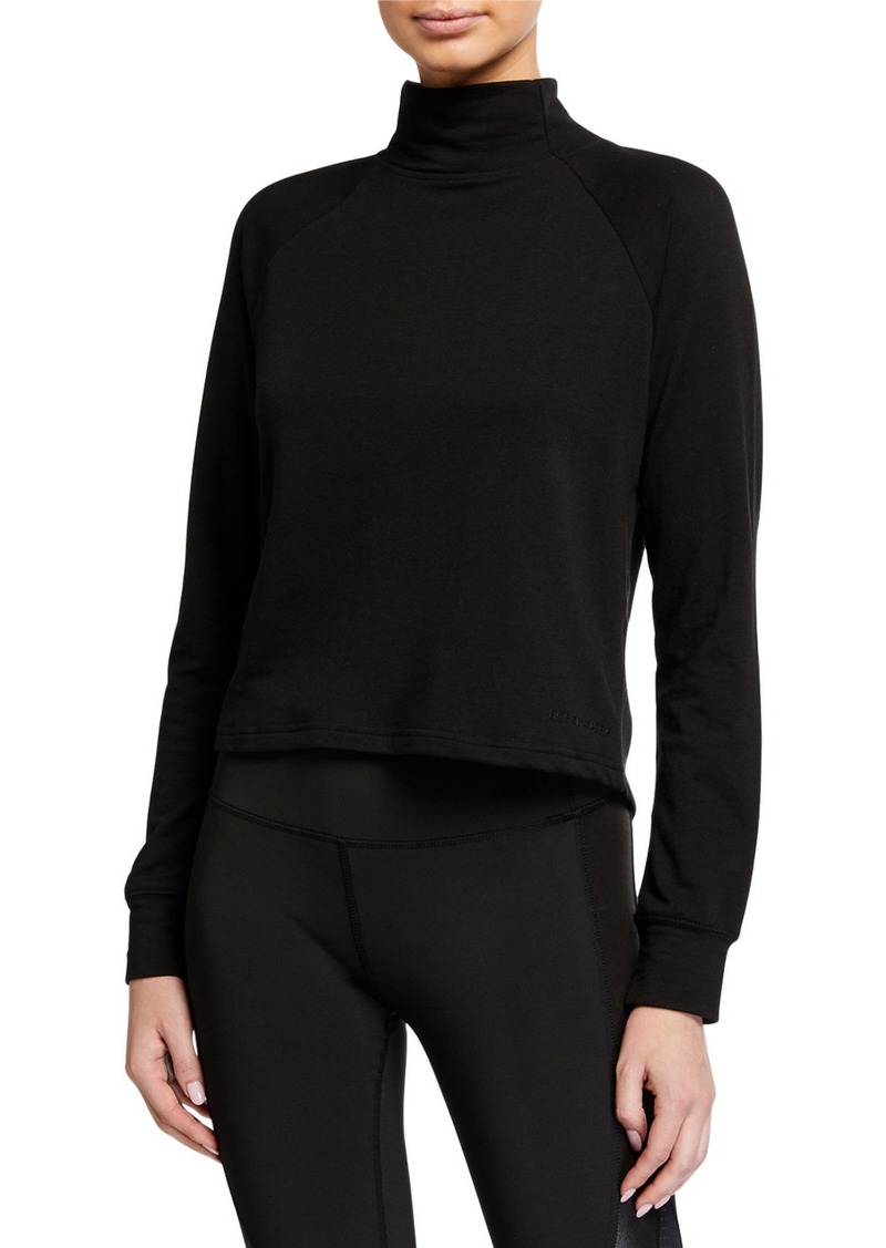 BCBG Max Azria Natalie Mock Neck French Terry Sweatshirt