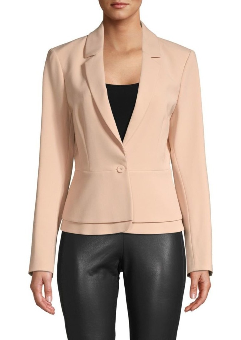 BCBG Max Azria Notch Lapel One-Button Blazer