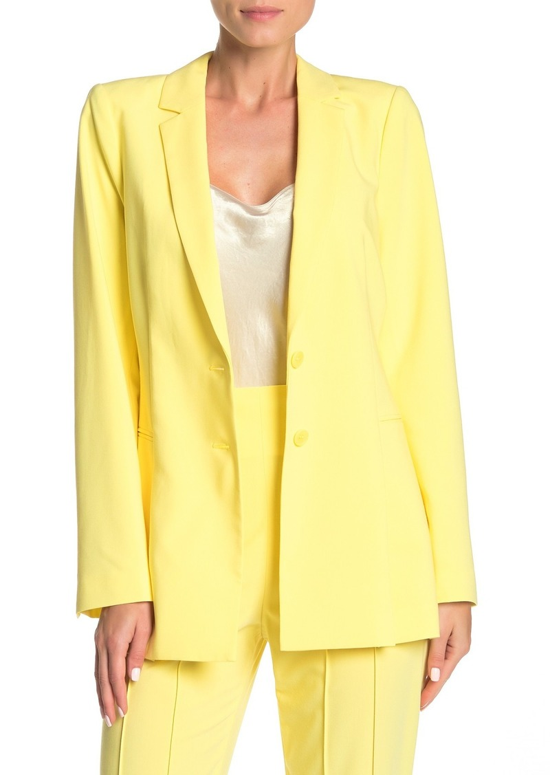 Notch Lapel Peplum Blazer