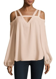 BCBG Max Azria Off-The-Shoulder Cutout Top