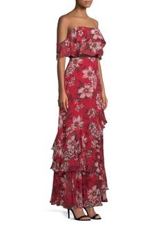 BCBG Max Azria Off-The-Shoulder Ruffle Dress