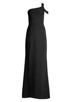 BCBG Max Azria One Cold-Shoulder Column Gown