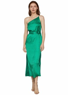 BCBG Max Azria One Shoulder Midi Dress