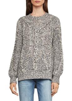 BCBG Max Azria Open-Stitch Cable Sweater