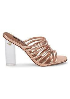 BCBG Max Azria Paisley Metallic Leather Heeled Sandals