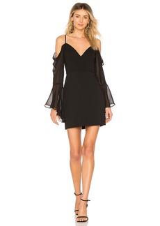Pamella Cold Shoulder Dress In Black