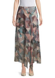 BCBG Max Azria Patchwork Hankerchief Skirt