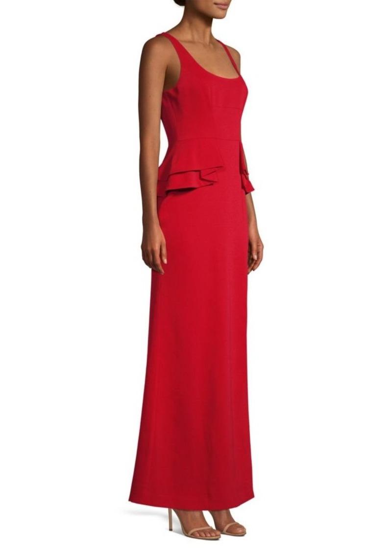 BCBG Max Azria Peplum Crepe Gown