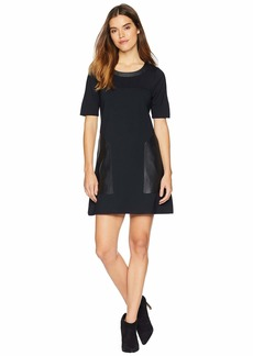 BCBG Max Azria Pieced Shift Dress
