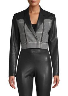 BCBG Max Azria Plaid Cropped Jacket