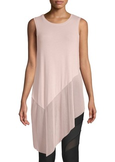 BCBG Max Azria Annabelle Asymmetrical Mixed-Media Top