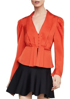 BCBG Max Azria Pleated Peplum Top
