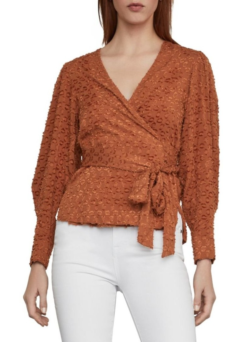 BCBG Max Azria Pleated Shoulder Wrap Top