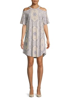 BCBG Max Azria Printed City Shift Dress