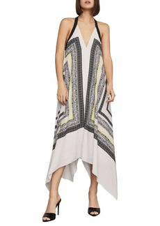 BCBG Max Azria Printed Halter Shift Dress