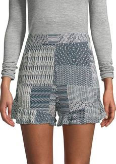 BCBG Max Azria Printed High-Rise Shorts
