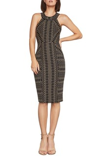 BCBG Max Azria Pyramid Jacquard Sheath Dress