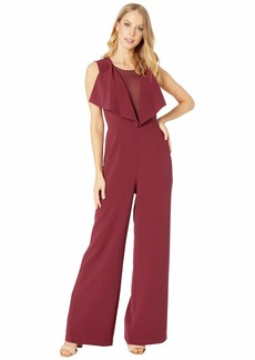 BCBG Max Azria Raymee Drape Front Jumpsuit