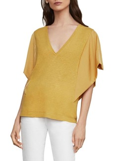 BCBG Max Azria Relaxed-Fit Drape-Sleeve Top