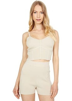 BCBG Max Azria Rib Fully Fashion Crop Top