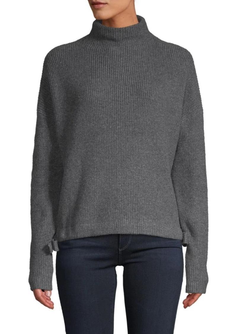 BCBG Max Azria Ribbed Cotton-Blend Sweater