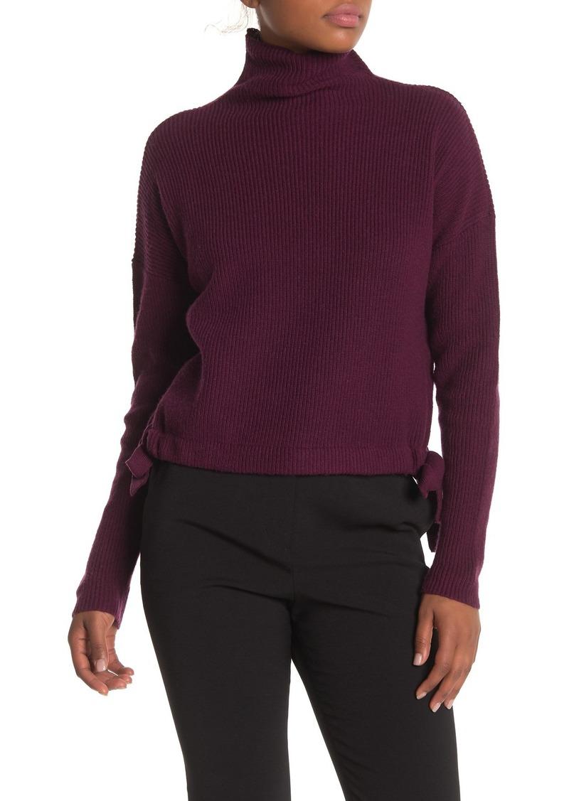 BCBG Max Azria Ribbed Side-Tie Sweater