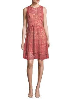 BCBG Max Azria Roundneck Lace Dress