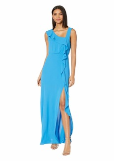 BCBG Max Azria Ruffle Front Evening Gown