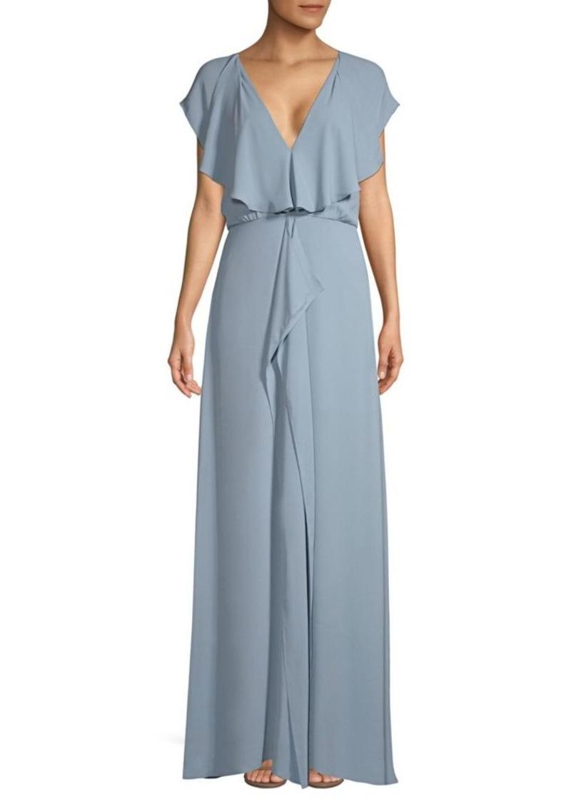 BCBG Max Azria Ruffle-Front Gown