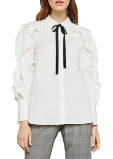 BCBG Max Azria Ruffle-Sleeve Blouse