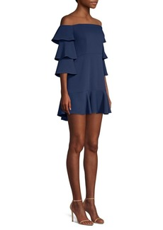 BCBG Max Azria Ruffle Sleeve Mini Dress