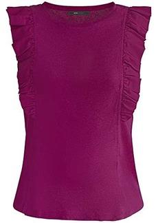 BCBG Max Azria Ruffle Sleeve Knit Top