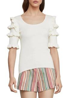 BCBG Max Azria Ruffle Sleeve Sweater Top