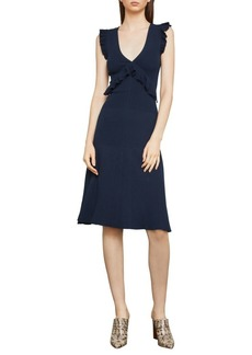 BCBG Max Azria Ruffle-Trimmed A-Line Dress