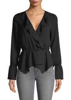 BCBG Max Azria Ruffled Surplice Top