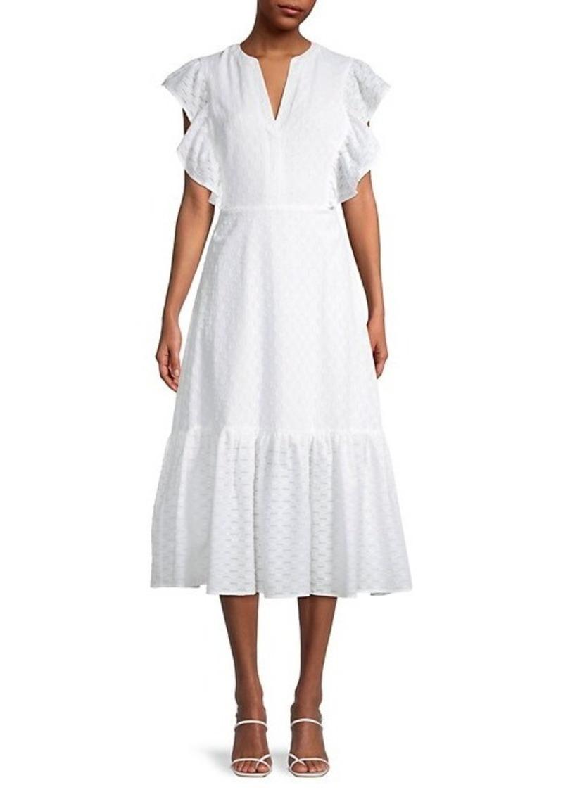 BCBG Max Azria Ruffled-Trim A-Line Dress