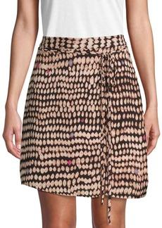 BCBG Max Azria Sandy Dots A-Line Mini Skirt