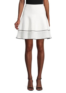 BCBG Max Azria Scalloped A-Line Skirt