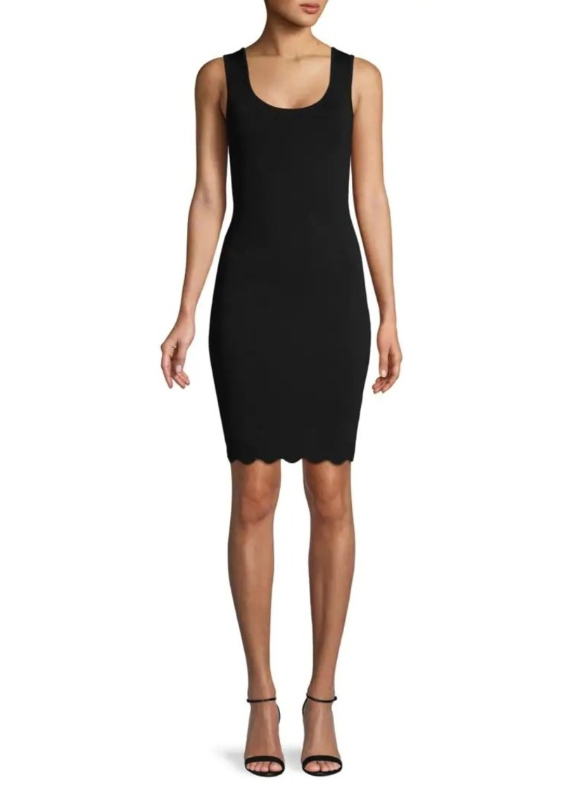 BCBG Max Azria Scalloped Sheath Dress