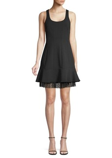 BCBG Max Azria Scoopneck Fit-&-Flare Mini Dress