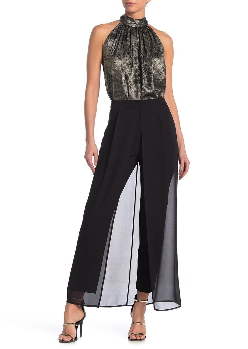 BCBG Max Azria Sheer Overlay Woven Pants