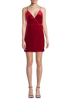 BCBG Max Azria Shimmer Velvet Minidress
