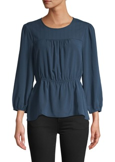 BCBG Max Azria Shirred Waist Top