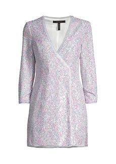 BCBG Max Azria Short Sequined Evening Dress