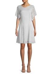 BCBG Max Azria Short-Sleeve Lace Mini Dress