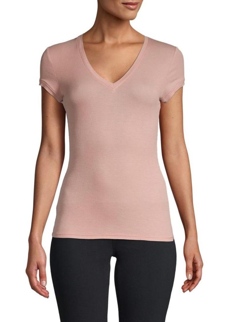 BCBG Max Azria Short-Sleeve V-Neck Top