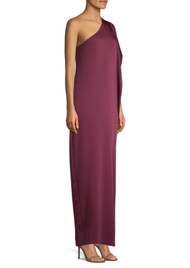 BCBG Max Azria Side Ruched One-Shoulder Gown